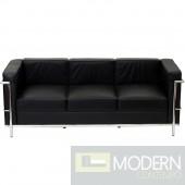 Charles Petite Le Corbusier Leather Sofa