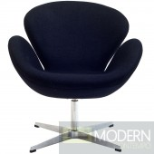 Wing Lounge Chair Black