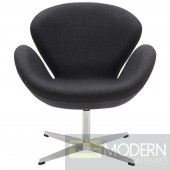 Wing Lounge Chair Dark Grey