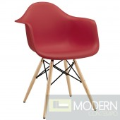 Pyramid Dining Armchair RED