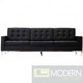 Loft Leather Sofa Black