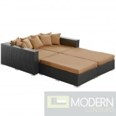 Convene 4 Piece Outdoor Patio Daybed MOCHA