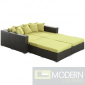 Convene 4 Piece Outdoor Patio Daybed PERIDOT