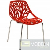 Stencil Dining Side Chair RED