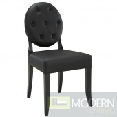 Button Dining Side Chair Black (set of 2)
