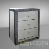 Modrest Emerson - Transitional Three Drawer Bedside Table