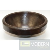 Round Surface Mount Copper Sink in Antigua Finish