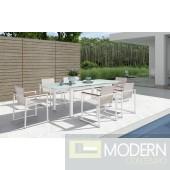 Renava H73 - Modern Patio Extendable Dining Set