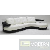 Divani Casa KK899 Ultra Modern Black and White Sectional Sofa