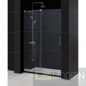 "Mirage 44 to 48"" Frameless Sliding Shower Door, Clear 3/8"" Glass Door, Brushed Nickel Finish"