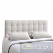 Lily Queen Vinyl Headboard White