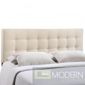 Lily Full Fabric Headboard Ivory