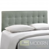 Emily King Fabric Headboard Grey