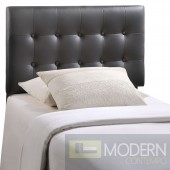 Emily Twin Black Vinyl Headboard