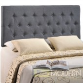 Clique Queen Headboard Dark Grey