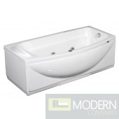 "68"" Whirlpool Bath Tub in White - Right Hand"