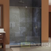 "Mirage 56 to 60"" Frameless Sliding Shower Door, Clear 3/8"" Glass Door, Brushed Nickel Finish"
