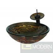 Brown Mosaic Painted Vessel
