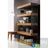 Modrest Aura Modern Walnut Bookcase
