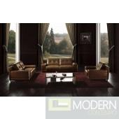 BO3950 Modern brown leather sofa set