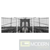 Modrest Brooklyn Bridge 3-Panel Photo on Canvas