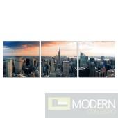 Modrest NYC 3-Panel Photo on Canvas