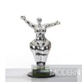 Modrest SZ0034 - Modern Silver Voluptuous A Sculpture