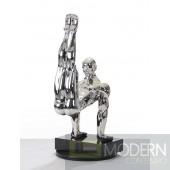 Modrest SZ0173 - Modern Silver Gymnast-B Sculpture
