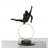 Modrest SZ0216 - Modern Black Gymnast-C Sculpture