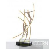 Modrest SZ0238 - Modern Bronze Acrobats-Poles Sculpture