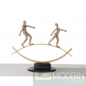 Modrest SZ0241 - Modern Bronze Acrobats-Tightrope Sculpture