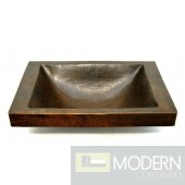Rectangle Surface Mount Copper Sink in Antigua Finish