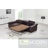 Divani Casa T136C - Modern Bonded Leather Sectional Sofa Bed