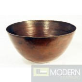 Tall Rond Copper Vessel Sink in Antigua Finish