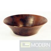Round Copper Bath Vessel in Natural Finish