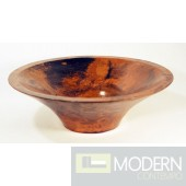 Tall Vase Copper Bath Vessel in Natural Finish