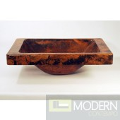 Rectangle Surface Mount Copper Sink in Natural Finish'