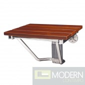 Natural Teak Folding Shower Seat