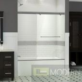 """Torero 35"""" Frameless Sliding Tub Door, Clear 3/8"""" Glass Door, Chrome Finish"""
