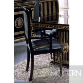 4 Modrest Rosella - Italian Classic Black Dining Arm Chairs