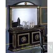 Modrest Rosella - Italian Classic Black And Gold Buffet