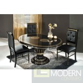 Modrest Rosella - Italian Classic Black Round Dining Table