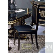4 Modrest Rosella - Italian Classic Black Fabric Dining Chair