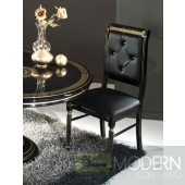 4 Modrest Rosella - Italian Classic Black Leather Dining Chair