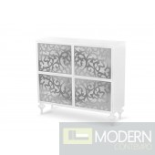 Versus Ambra Modern White 4-Door Square Buffet