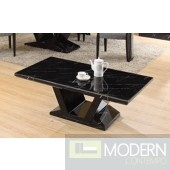 Modrest Libra Modern Black Marble Coffee Table