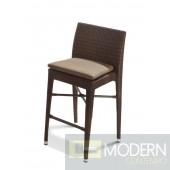 Renava H25 Brown Patio Bar Chair