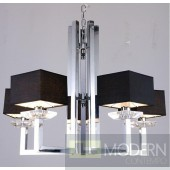 Modrest KR003P-5 Modern Chrome and Black Chandelier Lamp