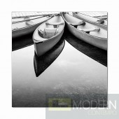 Modrest Parked Boats Photo On Canvas