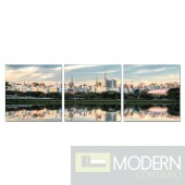 Modrest Peaceful Lake 3-Panel Painting